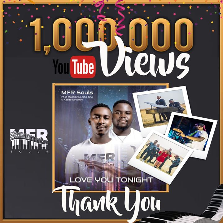 Love You Tonight by MFR Souls Hits A Million Views On YouTube